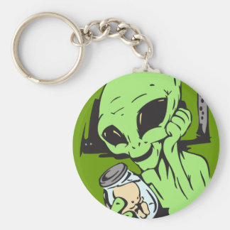 Alien and Human Baby Specimen Keychain