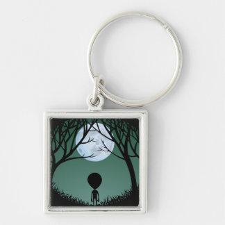 Alien Art Key Chain Extraterrestrial Gifts & Decor