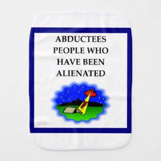 ALIEN BABY BURP CLOTH