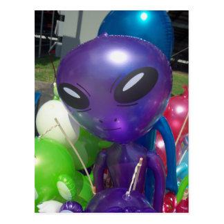 Alien Balloon Postcard