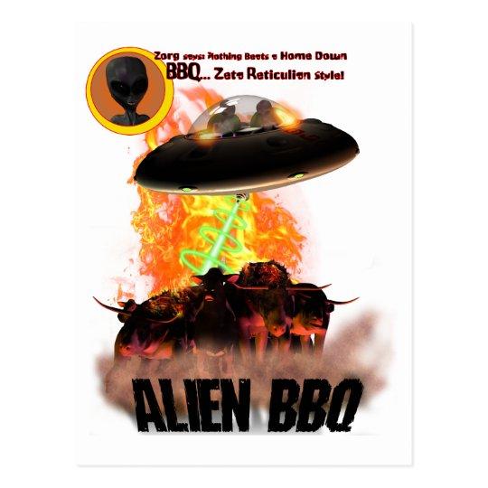 Alien BB-Q  Postcard