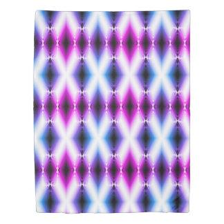 Alien Beam Bright Pink Purple Teleport Future Duvet Cover