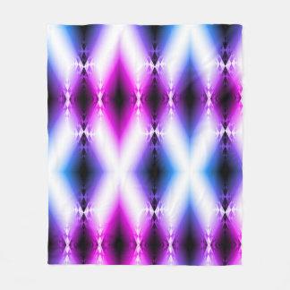 Alien Beam Bright Pink Purple Teleport Future Fleece Blanket