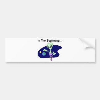 Alien Beginning Bumper Sticker