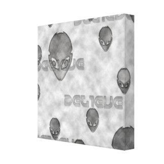 Alien Believe Canvas Print