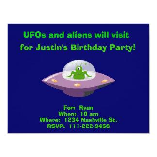 Alien Birthday Invitation