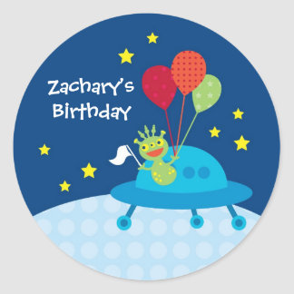Alien Birthday Sticker