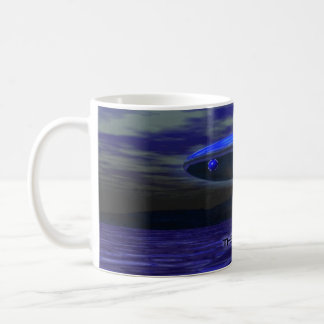 Alien Blue Classic White Coffee Mug