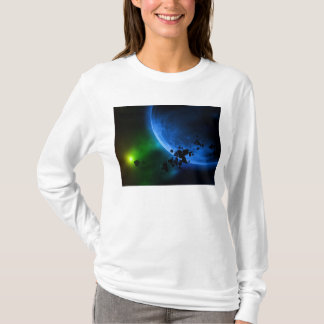 Alien Blue Planets T-Shirt