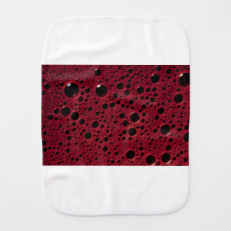 Alien bubbles bordeaux texture burp cloth