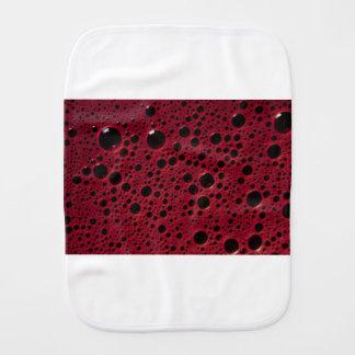 Alien bubbles bordeaux texture burp cloths