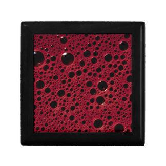 Alien bubbles bordeaux texture gift box