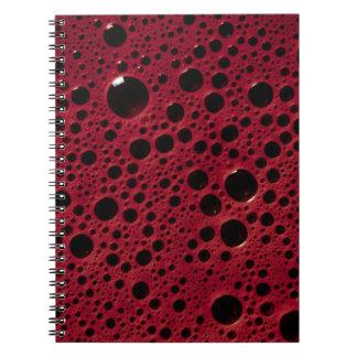 Alien bubbles bordeaux texture notebook