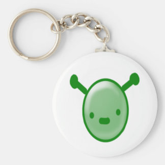 Alien Buddy Basic Round Button Keychain