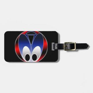 Alien Bug Luggage Tag w/ leather strap