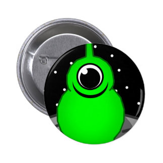 Alien 2 Inch Round Button