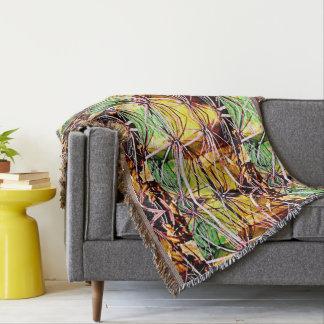Alien Cactus Custom Custom Throw Blanket
