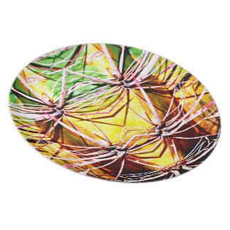 Alien Cactus Custom Melamine Plate