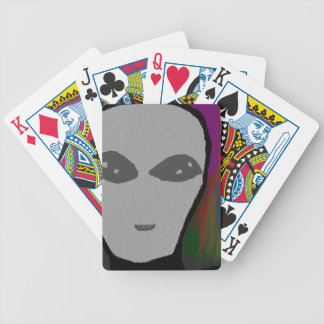 alien canva bicycle playing cards