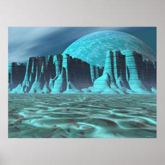 Alien Canyonlands Poster