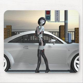 alien car model mouse pad