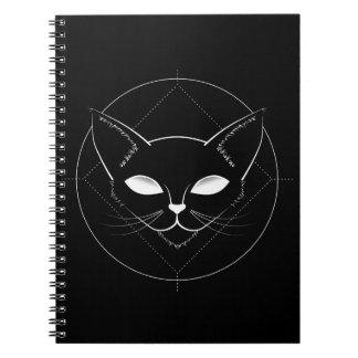 Alien Cat Black notebook