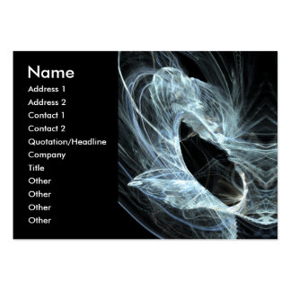 Alien Cat. Mystical Fantasy Art Fractal. Pack Of Chubby Business Cards