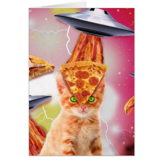 alien cats and the ufos card