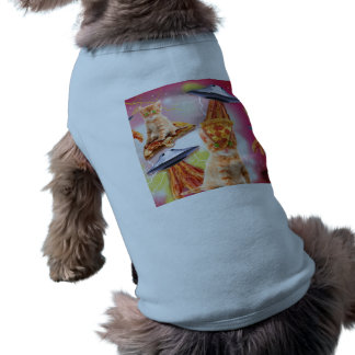 alien cats and the ufos dog shirt