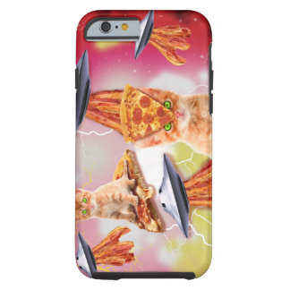alien cats and the ufos tough iPhone 6 case