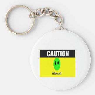 Alien Caution Key Chain