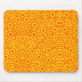 Alien Circuit II - Orange on Amber Mouse Pad