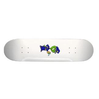 Alien Cop Writing a Ticket Skate Board Deck