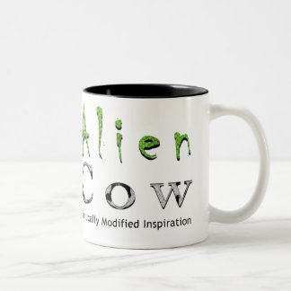 Alien Cow Brand Two-Tone Coffee Mug