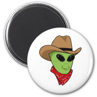 Alien Cowboy 2 Inch Round Magnet