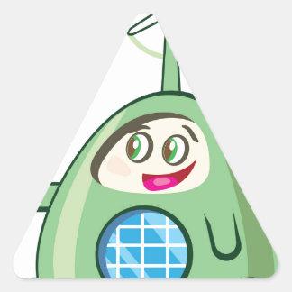 Alien Creature with Ice Cream Triangle Sticker