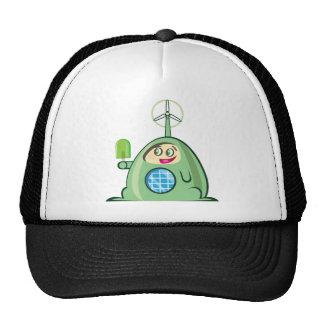Alien Creature with Ice Cream Trucker Hat