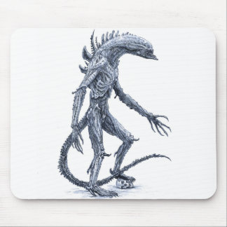 Alien Creature with Skull Mouse Pad