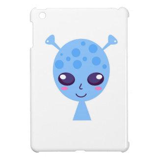Alien cute design on blue iPad mini case