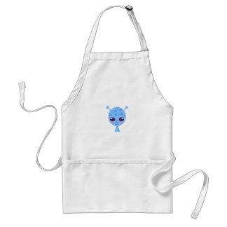 Alien cute design on blue standard apron