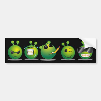 Alien Dark Bumper Sticker