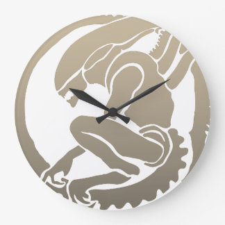 Alien design wall clock