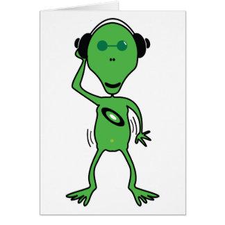 Alien DJ Card