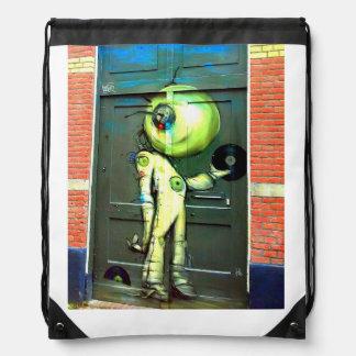 Alien DJ Street Art Backpack