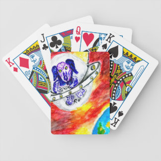 Alien Dog in Space Art Bicycle Playing Cards