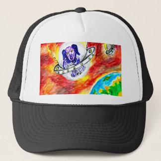 Alien Dog in Space Art Trucker Hat