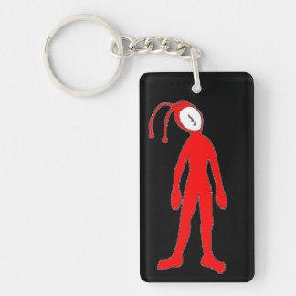 Alien Double-Sided Rectangular Acrylic Keychain