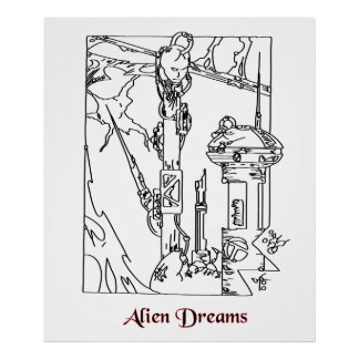 Alien Dreams Cyborg Poster