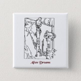 Alien Dreams Science Fiction 2 Inch Square Button