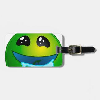 alien drooling bag tag